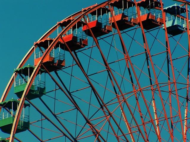 Riesenrad im Freizeitpark